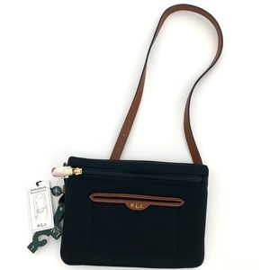 Ralph Lauren Women's Black belted Fanny Pack Large